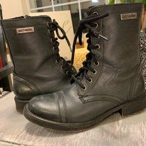 """Harley Davidson Ash grey 7"""" Motorcycle boots"""